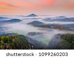 panorama view to swiss bohemian ... | Shutterstock . vector #1099260203