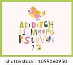 alphabet for kids with cute... | Shutterstock .eps vector #1099260950