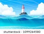 vector lighthouse  light house  ... | Shutterstock .eps vector #1099264580