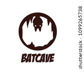 circle night bat cave mystery... | Shutterstock .eps vector #1099265738
