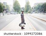 young handsome millennial black ... | Shutterstock . vector #1099272086