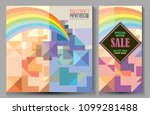 abstract concept of rainbows... | Shutterstock .eps vector #1099281488