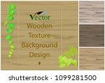 various wooden textures and... | Shutterstock .eps vector #1099281500