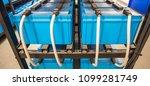 battery room rows of batteries...   Shutterstock . vector #1099281749