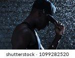 rapper black man in cap under...   Shutterstock . vector #1099282520