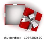 open red gift box or present... | Shutterstock . vector #1099283630