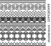 tribal ethnic seamless pattern. ... | Shutterstock .eps vector #1099285499