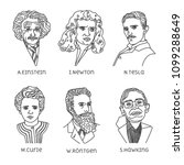 portraits of famous physicists | Shutterstock .eps vector #1099288649