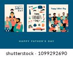 happy fathers day. vector... | Shutterstock .eps vector #1099292690