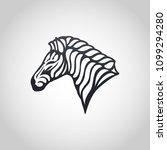 zebra vector logo icon... | Shutterstock .eps vector #1099294280