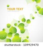 autumnal leaf vector  | Shutterstock .eps vector #109929470