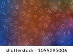 light blue  red vector cover... | Shutterstock .eps vector #1099295006
