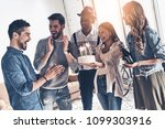 make a wish  happy young man... | Shutterstock . vector #1099303916