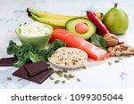 assortment of food   natural... | Shutterstock . vector #1099305044