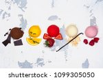 assortment of ice cream flavors ... | Shutterstock . vector #1099305050