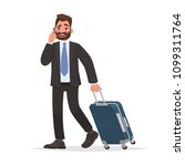 business man at the airport... | Shutterstock .eps vector #1099311764