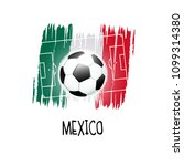 "hand written word ""mexico"" with ... 