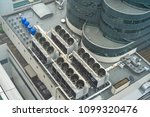 ventilation system on the... | Shutterstock . vector #1099320476