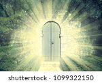 door of the heaven in a dreamy... | Shutterstock . vector #1099322150