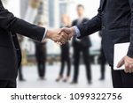 successful negotiating business ... | Shutterstock . vector #1099322756