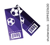 two football tickets icon. flat ...
