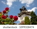 clocktower uhrturm on... | Shutterstock . vector #1099328474