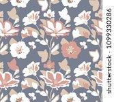 seamless flowers texture.... | Shutterstock .eps vector #1099330286