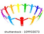 vector colorful icon   people... | Shutterstock .eps vector #109933073
