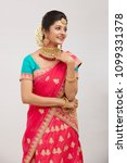 beautiful smiling indian bride...   Shutterstock . vector #1099331378