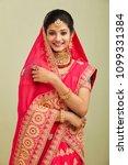 beautiful smiling indian bride...   Shutterstock . vector #1099331384