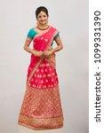 beautiful smiling indian bride...   Shutterstock . vector #1099331390
