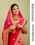 beautiful smiling indian bride...   Shutterstock . vector #1099331408