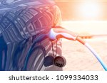 electric charge station for... | Shutterstock . vector #1099334033
