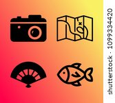vector icon set about travel... | Shutterstock .eps vector #1099334420