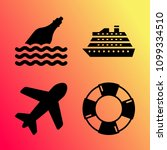 vector icon set about travel... | Shutterstock .eps vector #1099334510