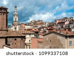 rome  italy   storm clouds over ... | Shutterstock . vector #1099337108