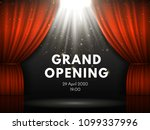 grand opening show poster with... | Shutterstock .eps vector #1099337996