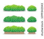 green bushes isolated on white... | Shutterstock .eps vector #1099342043