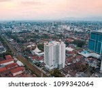 panoramic city scape of bandung | Shutterstock . vector #1099342064