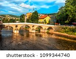 latin bridge is a historic... | Shutterstock . vector #1099344740