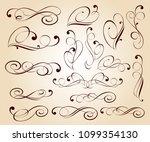 elegant floral design elements... | Shutterstock .eps vector #1099354130