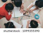 kindergarten and preschool kids ... | Shutterstock . vector #1099355390