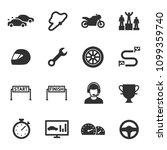 racing  monochrome icons set.... | Shutterstock .eps vector #1099359740