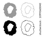 hole in the surface icon set... | Shutterstock .eps vector #1099360040