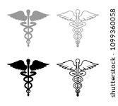 caduceus health symbol... | Shutterstock .eps vector #1099360058