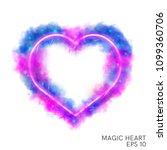 watercolor magic flaming heart... | Shutterstock .eps vector #1099360706