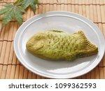 japanese sweets matca taiyaki   Shutterstock . vector #1099362593