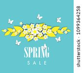 spring sale background with... | Shutterstock .eps vector #1099364258