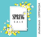 spring sale background with... | Shutterstock .eps vector #1099364264