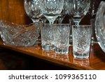 old soviet crystal glass ... | Shutterstock . vector #1099365110